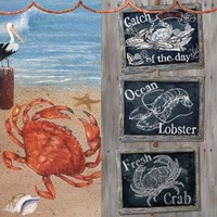 Fresh Catch-Blackboards 2 Fine Art Print