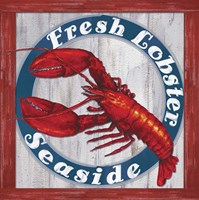 Fresh Lobster Sign 1 Fine Art Print