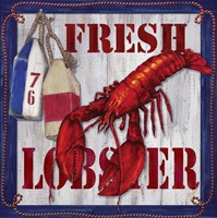 Fresh Lobster Sign 2 Fine Art Print