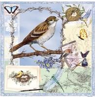 Natural Bliss Birds-Blue Fine Art Print