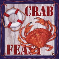 Crab Feast Sign 2 Fine Art Print