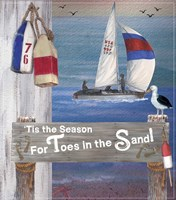 Toes In The Sand  Plaque 1 Fine Art Print