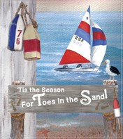 Toes In The Sand  Plaque 2 Fine Art Print