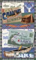 Canoe Lodge Throw Green 2 Fine Art Print
