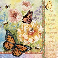 Sit Quietly in the Garden Fine Art Print
