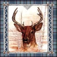 Birch Frame Plaid- Deer Fine Art Print