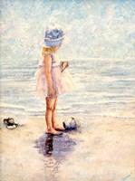 Discoveries At The Beach Fine Art Print