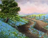 Texas Bluebonnets Crop Fine Art Print