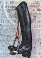 Riding Boot Words Fine Art Print