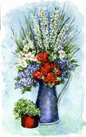 Patriotic Flowers Sketch Fine Art Print