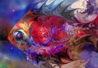 Beautiful Red Fish Fine Art Print