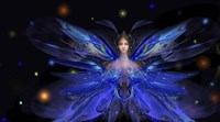 Butterfly Blue Princess Fine Art Print