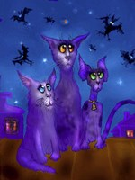 Night Cats 3 Fine Art Print