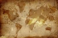 Vintage World Map Fine Art Print