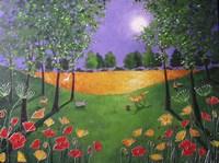 Autumn Evening Poppies Fine Art Print