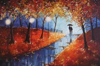 Autumn Evening Rain Fine Art Print