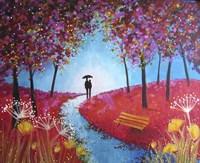 Autumn Evening Stroll Fine Art Print