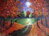 Autumn Moonlight Fine Art Print