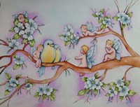 Blossom Fairies Fine Art Print