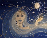 Goddess Of Night Fine Art Print