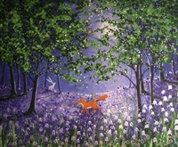 Midnight In The Bluebell Wood Fine Art Print