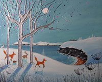 Winter Foxes Fine Art Print