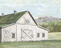 Field Barn in Spring Fine Art Print