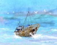 Blue Sea Fine Art Print