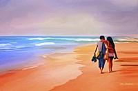 Beach Walk Fine Art Print