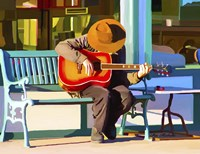 Play His Guitar Fine Art Print