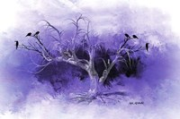 Dead Tree And Black Birds Fine Art Print