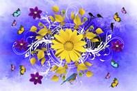 Flowers Design 1 Fine Art Print