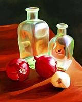 Bottles And Onion Fine Art Print