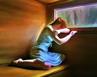 Sad Girl Fine Art Print
