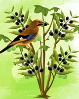 Bird on Plant Fine Art Print