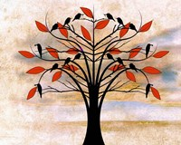 Black Birds on Tree Fine Art Print