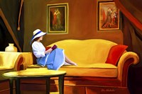 Lady Reading 1 Fine Art Print