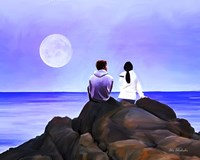 Together Watching The Moon Fine Art Print