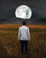 Moon And Me Fine Art Print