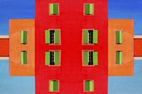 Red Building Fine Art Print