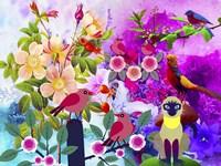 Flowery Forest Fine Art Print