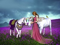 The Princess And Unicorns Fine Art Print