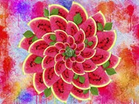 Watermelon Flower Fine Art Print