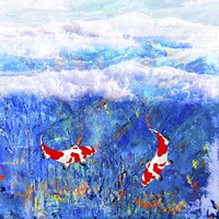 Red Twin Fish Fine Art Print