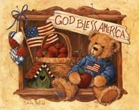 God Bless America Teddy Fine Art Print