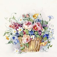Rose Basket Fine Art Print