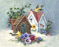 Goldfinch Birdhouses Fine Art Print