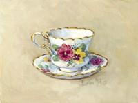 Pansy Teacup Fine Art Print