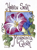 Heaven Sent Mornning Glory-Seed Packet Fine Art Print