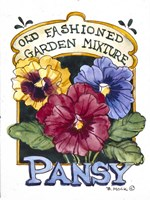 Old Fashioned Pansy-Seed Packet Fine Art Print
